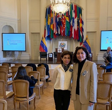 Founders Gabriela Rondon and Gloria Matiuzzi attend the OAS conference